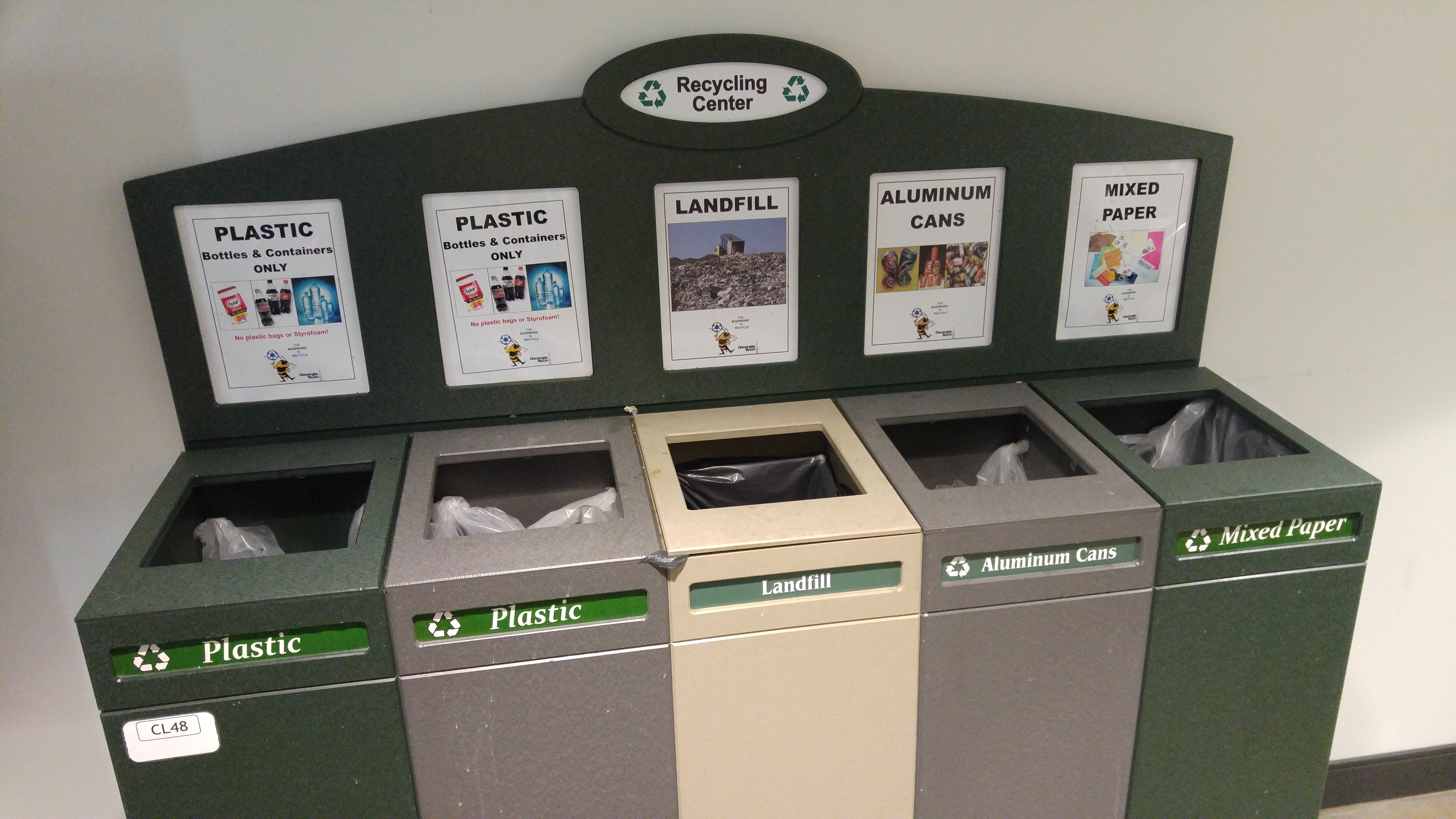 Indoor source separated recycling units
